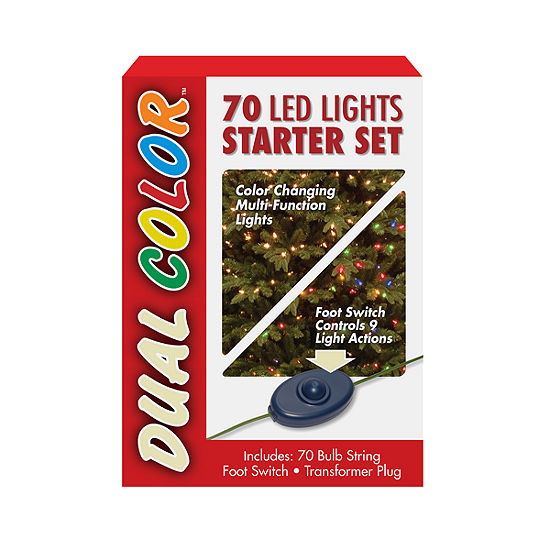 National Tree Co. 70-Light Dual Color Led Multi-Color Indoor/Outdoor String Lights
