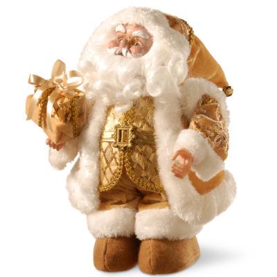 "National Tree Co. 14"" Musical Santa Santa Figurine"