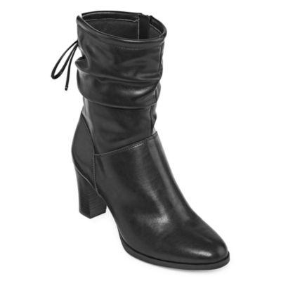 east 5th Womens Abby Bootie Cone Heel Zip