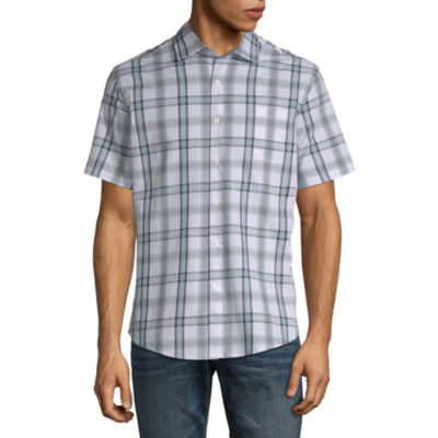 Claiborne Untucked Button-Down Slim Fit Shirt