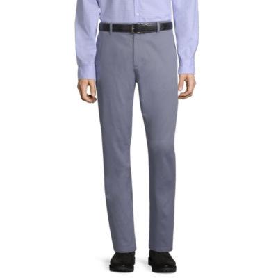 Claiborne Mens Mid Rise Slim Fit Flat Front Pant