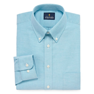Stafford Travel Wrinkle-Free Stretch Oxford Big And Tall Long Sleeve Oxford Dress Shirt
