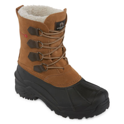 Weatherproof Mens Traverse Water Resistant Insulated Winter Boots Lace-up
