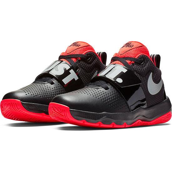Nike Team Hustle D 8 Jdi Boys Basketball Shoes Lace-up