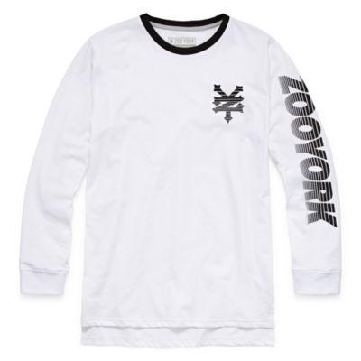 Zoo York Long Sleeve Crew Neck T-Shirt-Big Kid Boys