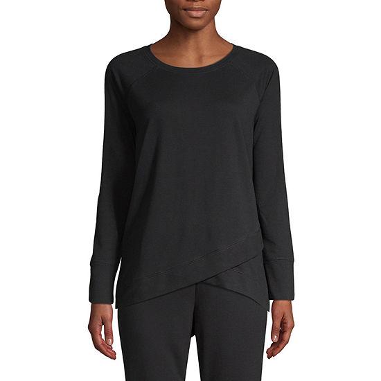 St. John's Bay Active Womens Crew Neck Long Sleeve Sweatshirt