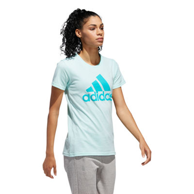 adidas Short Sleeve Crew Neck T-Shirt-Womens