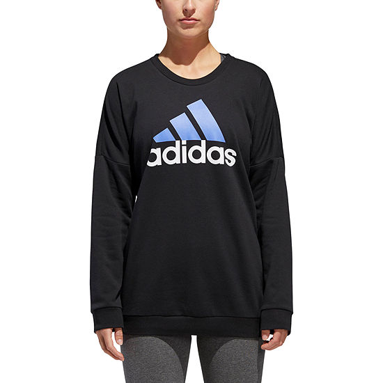 adidas Badge Of Sport Round Neck Long Sleeve Sweatshirt