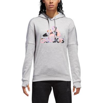 adidas Team Issue Bos Floral Hoodie Womens Long Sleeve Hoodie