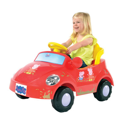Rollplay Peppa Pig Family Car 6 Volt Battery Ride On Vehicle Jcpenney