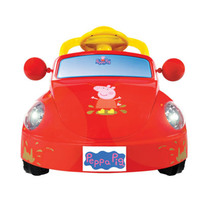 Rollplay Peppa Pig Family Car 6 Volt Battery Ride-On Vehicle