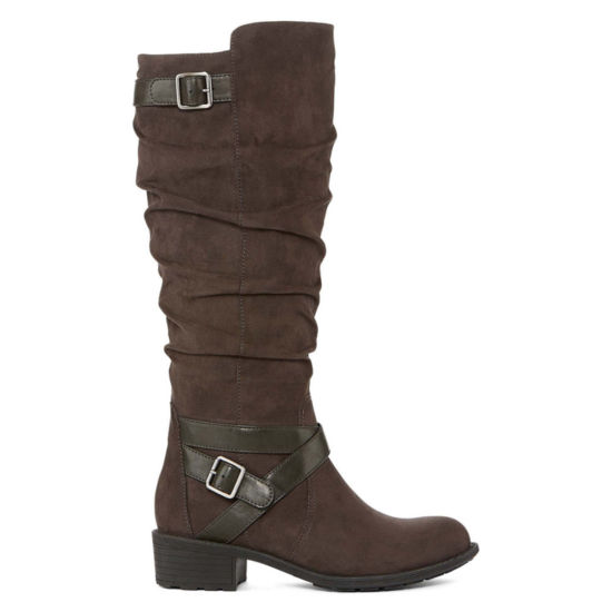 St. John's Bay Womens Debra Wide Calf Riding Boots