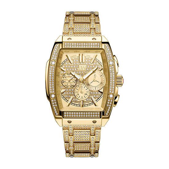 JBW Echelon 2 3/4  C.T. T.W. Genuine Diamond Mens Chronograph Gold Tone Stainless Steel Bracelet Watch-Ps570a