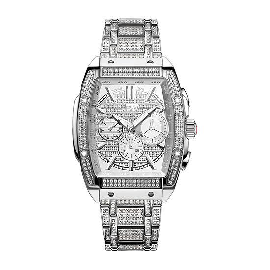 JBW Echelon 2 3/4 C.T. T.W. Genuine Diamond Mens Chronograph Silver Tone Stainless Steel Bracelet Watch-Ps570b