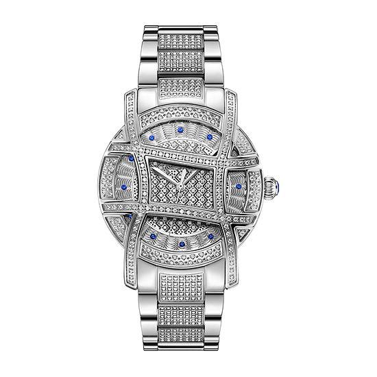 JBW Olympia 2 1/2 C.T. T.W. Genuine Diamond Womens Accent Silver Tone Stainless Steel Bracelet Watch-Ps510b