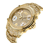 JBW Jet Setter 2 3/4 C.T. T.W. Genuine Diamond Mens Gold Tone Stainless Steel Bracelet Watch-Ps550a