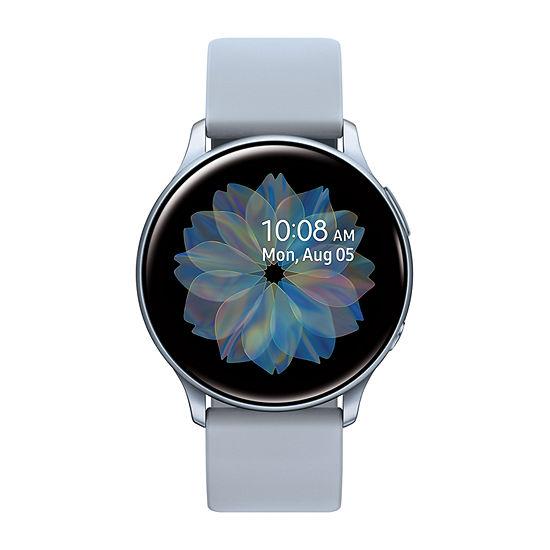 Samsung Galaxy Active 2 44mm Unisex Multi-Function Silver Tone Smart Watch-Sm-R820nzsaxar