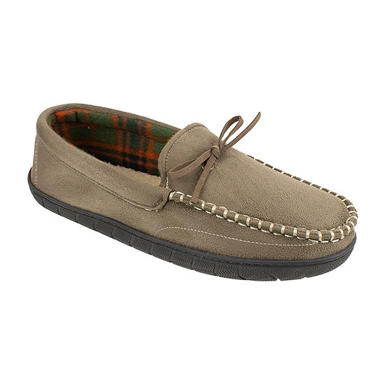 Dockers® Wide Width Plaid Lined Moccasin Slippers