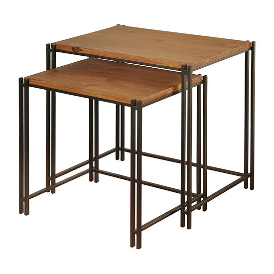 24-Inch 2-Piece Nesting Table Set