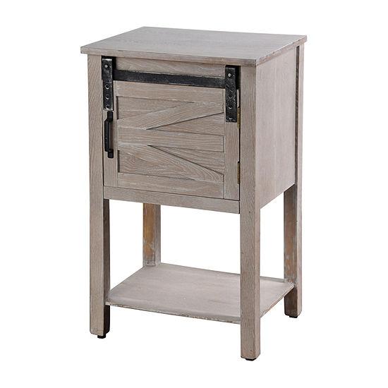Stylecraft Greywash with Barn Doors Chairside Table