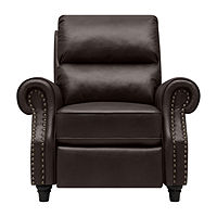 Anna Push Back Roll-Arm Recliner in Renu Leather Deals