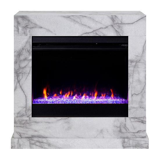 Southern Enterprises Electric Fireplace Fc1062859 Color White