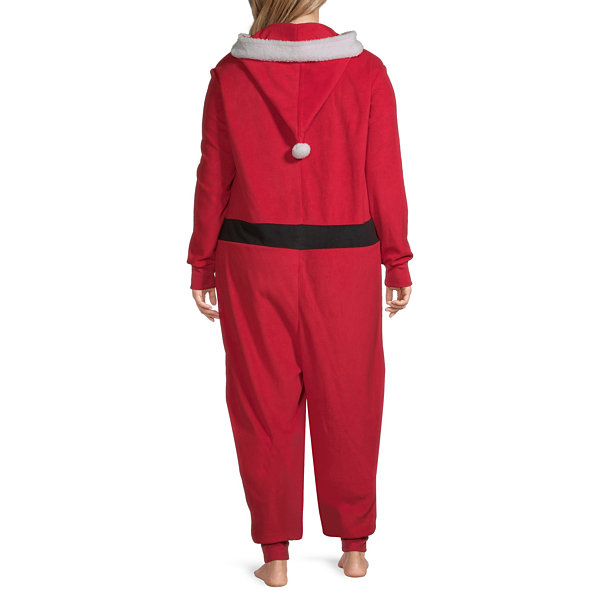 North Pole Trading Co. Santa Unisex Adult Plus Microfleece Long Sleeve One Piece Pajama