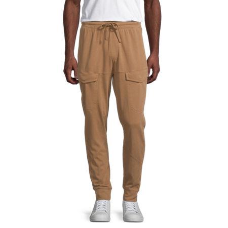 Arizona Mens Slim Fit Jogger Pant, Large , Brown