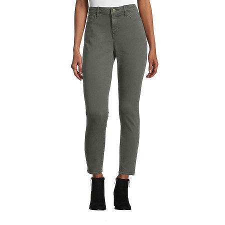 a.n.a Womens Mid Rise Skinny Jeggings, 10 , Green