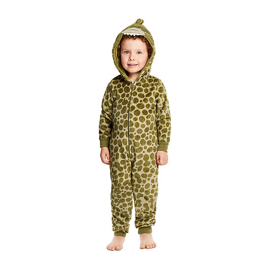 Jelli Fish Kids Toddler Boys Fleece Long Sleeve One Piece Pajama