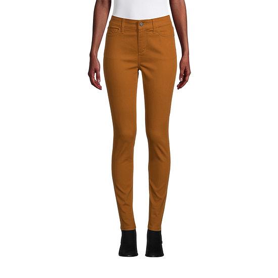 St. John's Bay - Petite Secretly Slender Womens Mid Rise Skinny Fit Jean