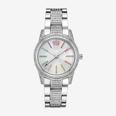 Juicy By Juicy Couture Womens Silver Tone Bracelet Watch Jc/5015svsv