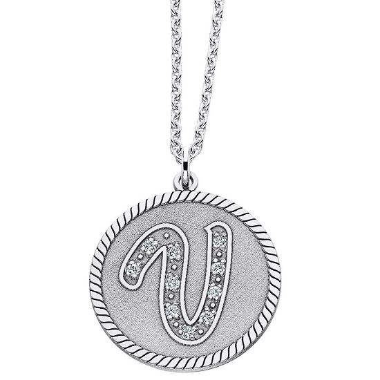 Personalized Sterling Silver Initial Pendant Necklace
