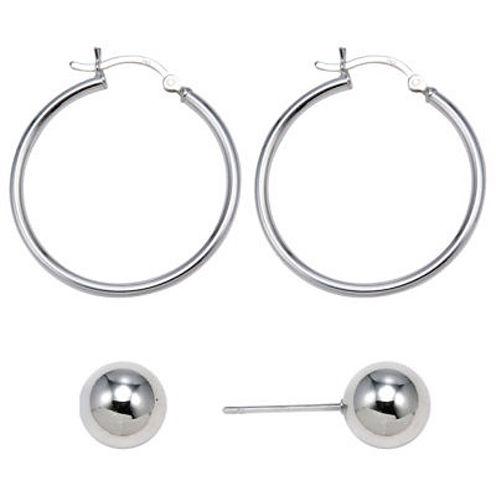 Sterling Silver 2-Pr. Earring Set