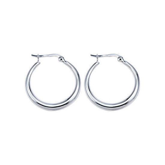 Sterling Silver Thick Hoop Earrings