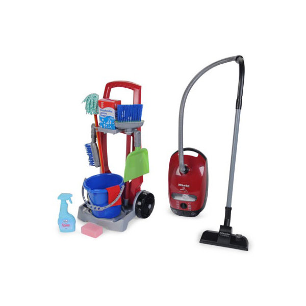 Theo Klein Cleaning Trolley And Miele Vacuum Cleaner Toy Set