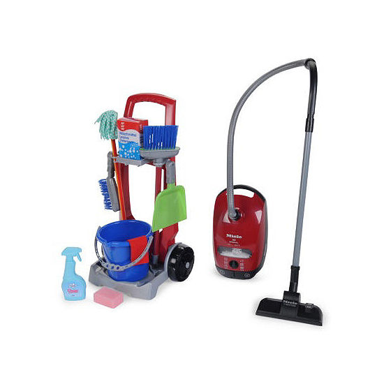 Cleaning Trolley And Miele Vacuum Cleaner Toy Set