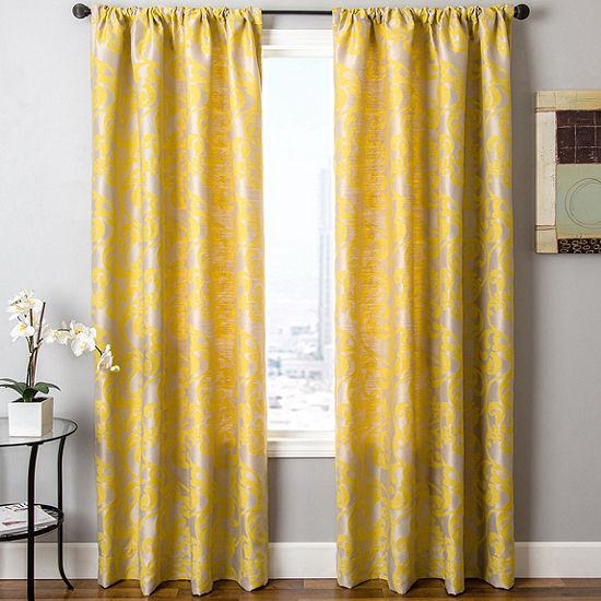 Kaylan Rod-Pocket Curtain Panel