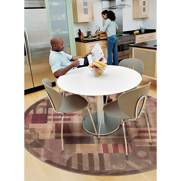 Nourison® Mix It Carved Indoor Round Rug