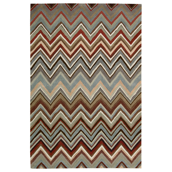 Nourison® Chevron High-Low Carved Rectangular Rug