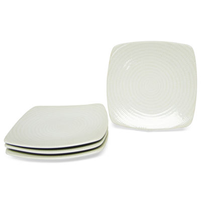 Red Vanilla Rice Set of 4 Square Salad Plates