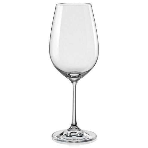 Red Vanilla Viola Set of 6 Wine Glasses