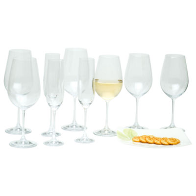Red Vanilla Viola 18-pc. Assorted Wine Glass Stemware Set