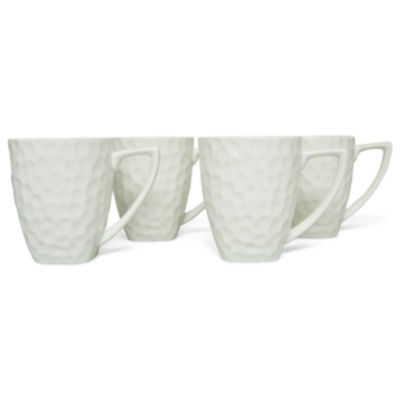 Vanilla Marble Set of 4 Square Mugs
