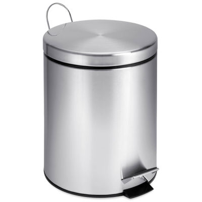 Honey-Can-Do® 5-Liter Round Stainless Steel Step Trash Can
