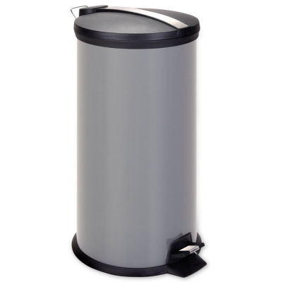 Honey-Can-Do® 30-Liter Gray Metal Step Trash Can