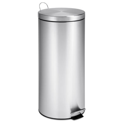 Honey-Can-Do® 30L Round Stainless Steel Trash Can + Bucket