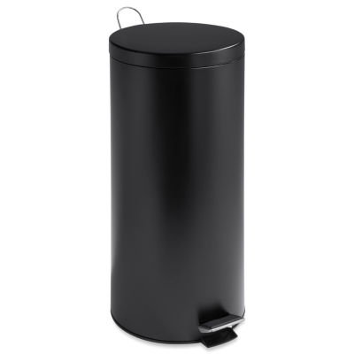 Honey-Can-Do® 30L Round Matte Black Trash Can + Bucket