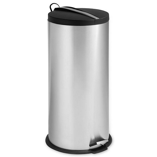 Honey-Can-Do® 30L Steel Trash Can + Bucket