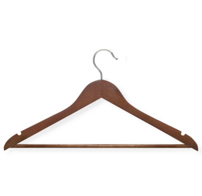 Honey-Can-Do® 8-Pack Cherry Wood Suit Hangers Nonslip Bar